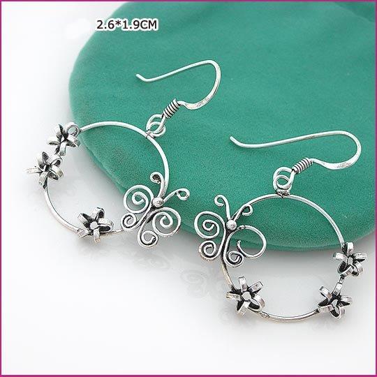 Butterfly Silver (925 Sterling) Earring, Earrings, Sterling Silver