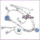 Blue Crystal Anklet, Anklets