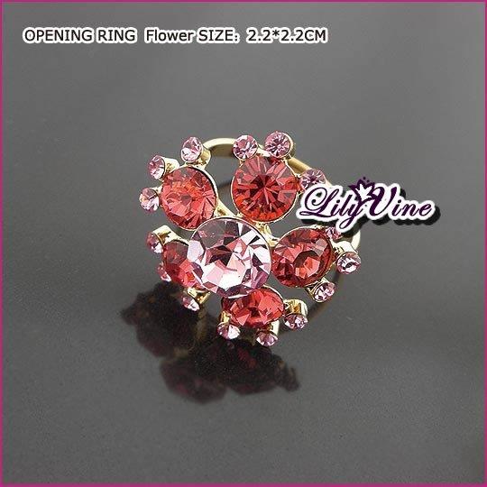Ruby Flower Ruby Ring, Rings