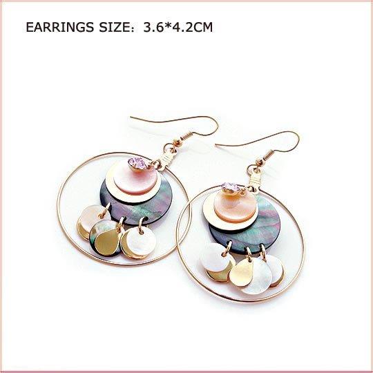 Colorful Round Pierced Earrings, Pierced earrings, Earrings