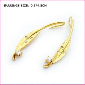 Leaf Boat Gold Plated Earring, Pierced earrings, Earrings