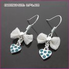 Kyanite Silver Plated Heart Pierced Earrings, Pierced earrings, Earrings