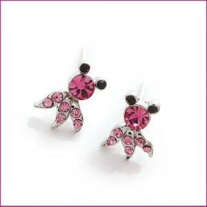 Pink Golden fish Pierced Earrings, Pierced earrings, Earrings