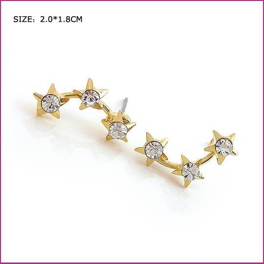 Romantic White Crystal Pierced Earrings, Pierced earrings, Earrings