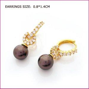 Pearl Golden Pierced Earrings, Pierced earrings, Earrings
