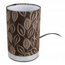 "Table Lamp Uplight Fabric 9"" Leaf Design"