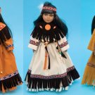 """16 """" H Porcelan Indian Doll W/ Stand"""