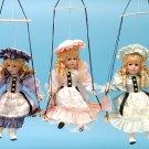"""16 """" H Porcelain Doll On Swing"""