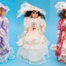 """16 """" Porcelain Doll W/ Stand"""