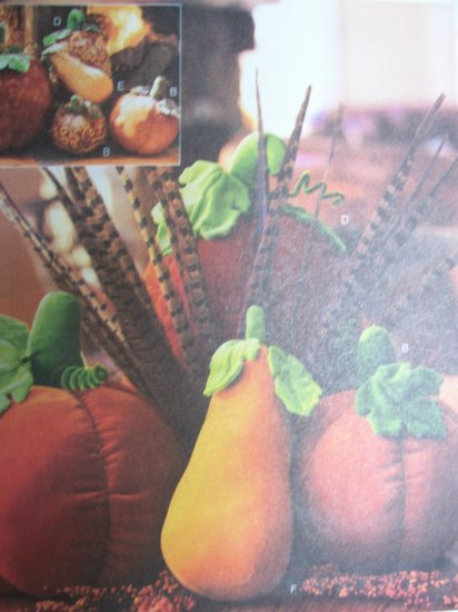 McCall's Crafts Pattern 4189 Pumpkins and Gourds