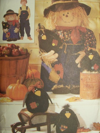 Butterick Pattern 6298 Porch Scarecrow & Crows