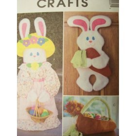 Mccall's Crafts Pattern 3553 Bunny Greeter / Wall Hanging / Carrot Basket