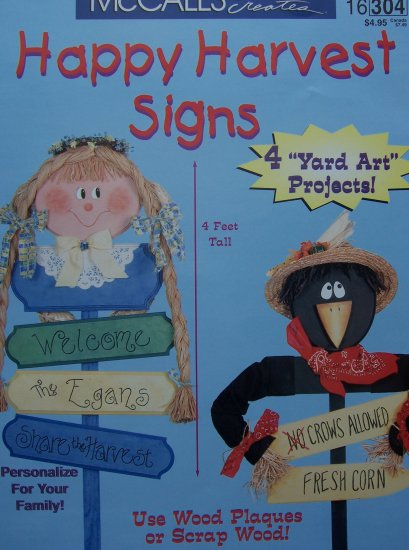 McCall's Creates Booklet - Happy Harvest Signs
