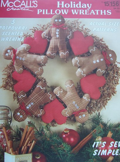 McCall's Creates Booklet - Holiday Pillow Wreaths