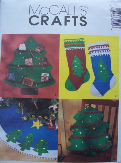 Mccall's Crafts Pattern 3425 - Christmas Tree Card Holder, Stocking, Pillow and Tree Skirt