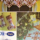 Simplicity Pattern 3977 Patchwork Quilted Christmas Decorating - Holiday Quilting