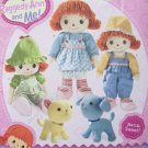 Simplicity Pattern 2387 Raggedy Ann and Me! Doll & Clothes, Dog, Cat