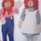 Simplicity Pattern 2510 Raggedy Ann & Andy Costumes for Toddlers Size AA 1/2, 1, 2