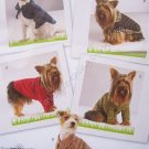 Simplicity Pattern 2695 Dog Clothes in Three Sizes - Size A - XS, S, M