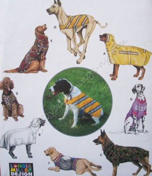 Simplicity Pattern 9520 Large Size Dog Clothes - Coat, Bathrobe, Backpack Vest