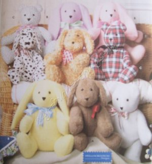 Simplicity Pattern 9524 Dog, Rabbit & Bear
