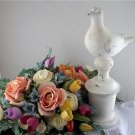 Distressed White ShabbyChic Bird Decor Statue Sculpture
