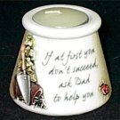 """Fathers Day History & Heraldry Dad Candle Pot """"Ask Dad"""""""