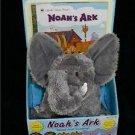 Noah's Ark Book & Grey Stuffed Elephant Gift Set