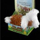 Jolly Barnyard Book and Fluffy Barking Dog Gift Set