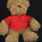 Hallmark #1 Dad Soft Plush Teddy with Red Polo Shirt
