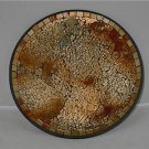 Home Decor Beautiful Gold & Browns Mosaic Glass Plate
