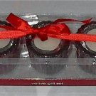 3 Red Votive Candle Gift Boxed Set