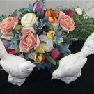 Clearance Distressed White ShabbyChic Bird 8.5 Inches