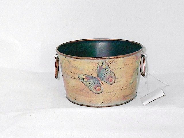 Shades of Brown Planter / Container / Pot with Butterfly Print