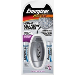 Energizer Energi-To-Go Instant Battery-Powered Cell Phone Charger - Sprint and Samsung Cell Phones