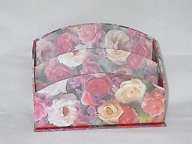 Floral / Flower print Desk Organizer / Letter Holder