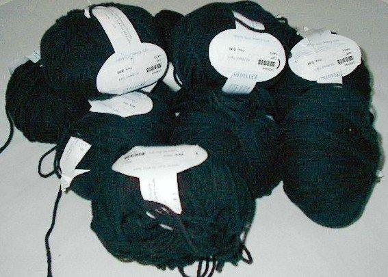 Yarn Reynolds Cabana Bulky Cotton Blend Black (#920) Lot of 10