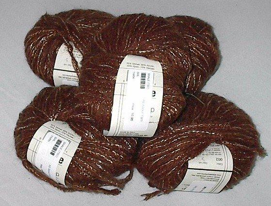 Teva Durham Shale Loop-d-Loop Mohair Blend Yarn Brown Gold (#002)