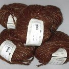 Teva Durham Shale Loop-d-Loop Mohair Blend Yarn Brown Gold (#002)
