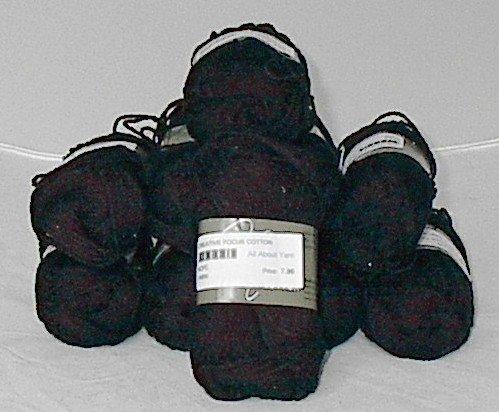 48% Discount on Nashua Creative Focus Cotton Yarn Black (#031)