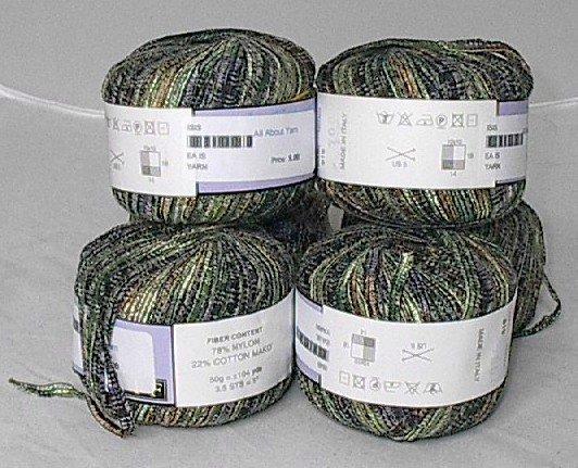 50% Discount on Filatti FF Isis Cotton Blend Ribbon Yarn Green (#819)