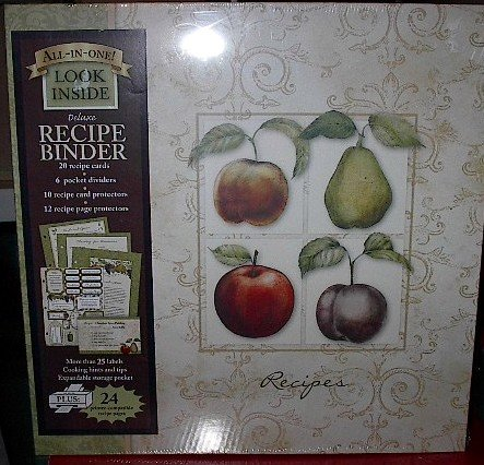 Deluxe All-In-One Recipe Keeper Organizer Binder New