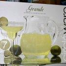 Grande Margarita 7 Piece Pitcher Glasses Entertaining Set