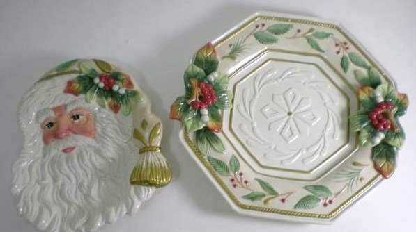 Fitz And Floyd Winter Wonderland Plate And Server Msrp 113