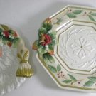 Fitz and Floyd Winter Wonderland Plate and Server MSRP $113