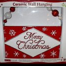 Merry Christmas Ceramic Wall Hanging Plaque