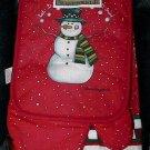 3 Piece Laurie Korsgaden Let It Snow Snowman Kitchen Textile Set