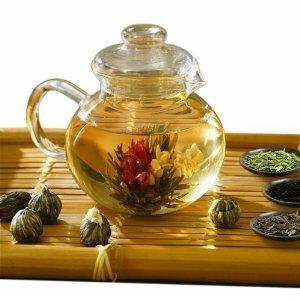 Primula Flowering Tea Set 40-Oz Pot, 6 Teas Plus Variety Pack