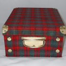 Red and Green Plaid Snap & Store Collapsible Box 11 x 9