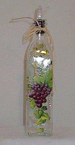 Ganz Bella Casa Gourmet Glass Cruet Oil Bottle Grape Themed